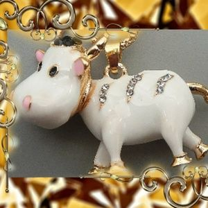 Betsey Johnson Cow Necklace